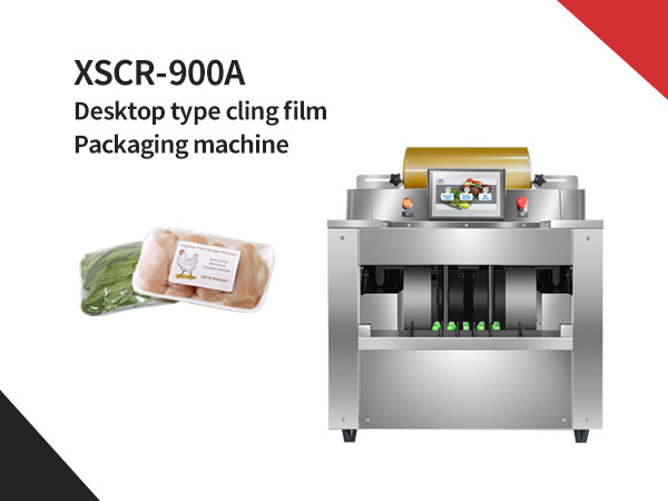 XSCR-900A Desktop type cling film packaging machine